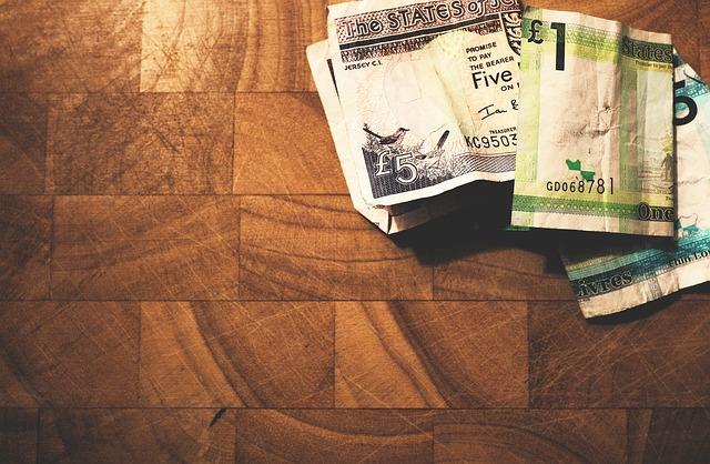 h紙幣と床
